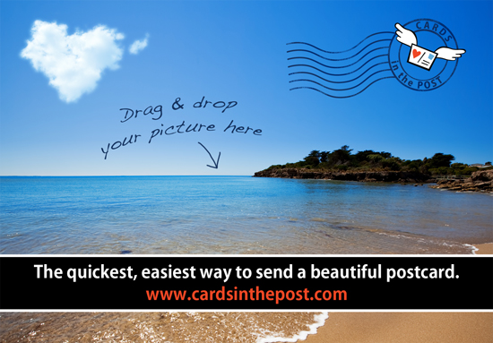 Postcards - Cards in the Post: Make a postcard online and we